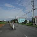写真: 八尾町にて、ふと見たバス停が
