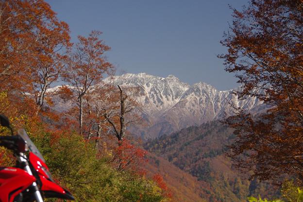 祐延ダムの峠からの雄山