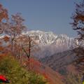 写真: 祐延ダムの峠からの雄山