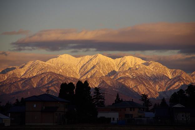 毛勝三山の夕景
