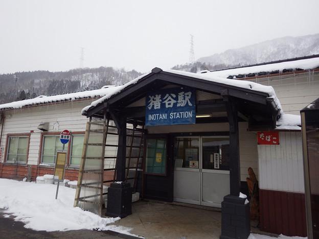 冬の猪谷駅