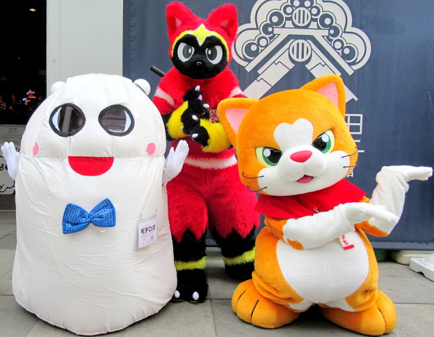モチロボ と ネコ忍者☆かげ丸 と にゃん吉