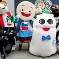 山葵 と ミケ・ランジェロ と 笹郎 と ごかぼちゃん と モチロボ と カンフーキャット ゴロちゃん と チビウサヒ と クマ公 と ハティ