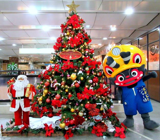 クリスマスツリー と ジャー坊
