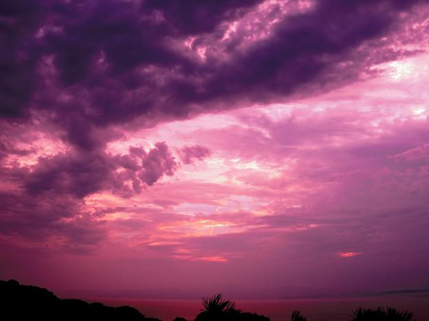 写真: 夕空