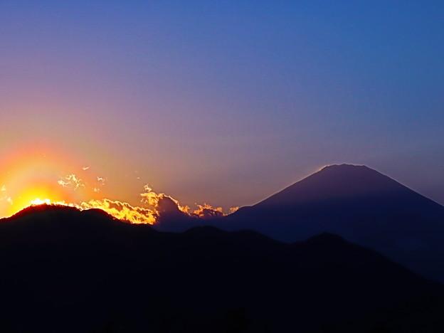 富士と夕焼け