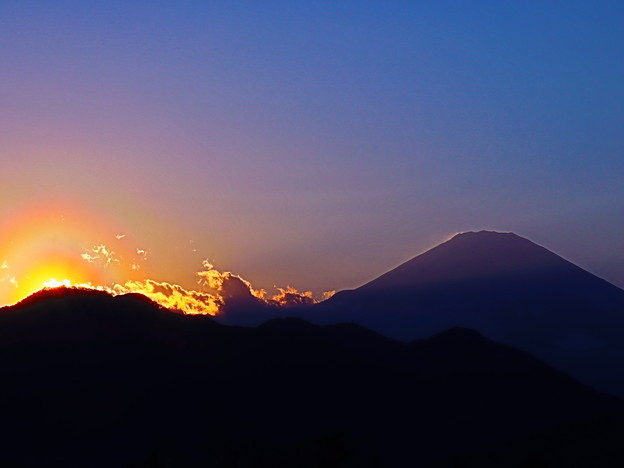 Photos: 富士と夕焼け
