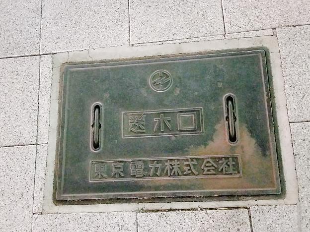 東京電力株式会社のフタ(送水口)