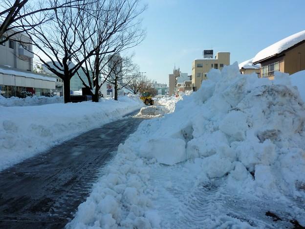 写真: 除雪