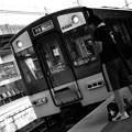 写真: 駅にて