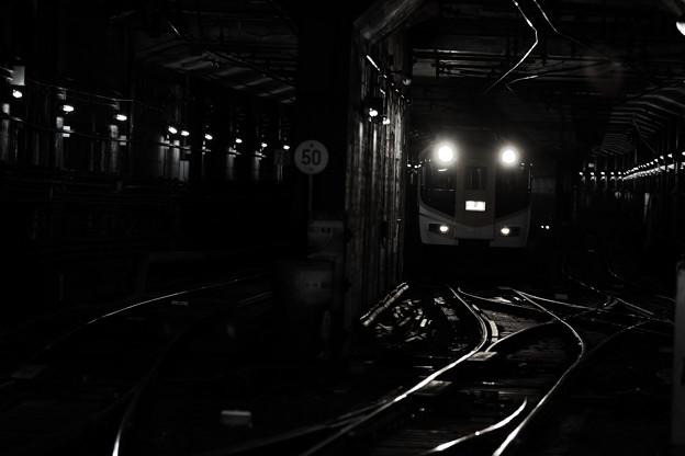 Photos: The lurking train.