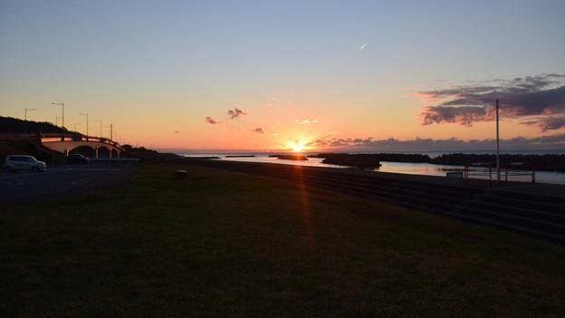 出雲崎の夕日