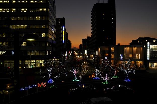Photos: 12月21日、日没後の富士見テラスから(7)