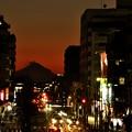 12月21日、日没後の富士見テラスから(9)