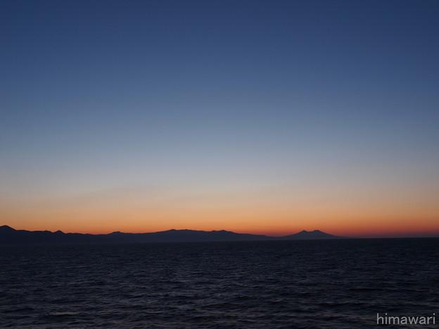 東苫小牧港へのフェリーから