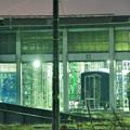 写真: 佇む C11325 会津若松駅扇形庫_1