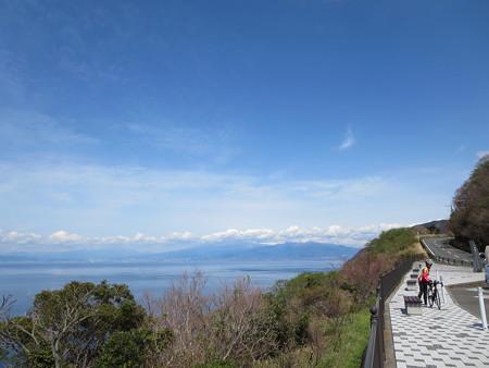 出会い岬から富士山と駿河湾を望む@沼津戸田