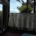河口湖エリアのカフェから富士山