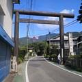 写真: 大山阿夫利神社 参道三の大鳥居