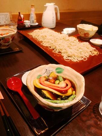 板そば+夏野菜汁