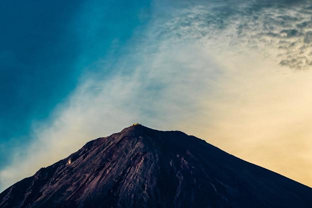 富士の頂上