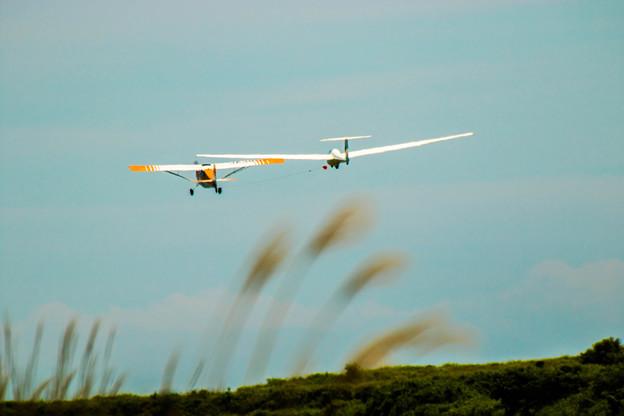 無動力飛行機離陸