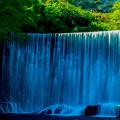 写真: 十枚荘温泉奥手の人工滝