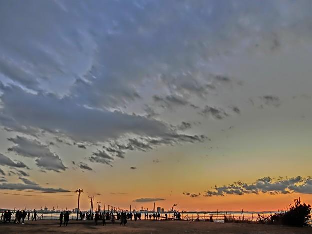 写真: 木更津の夕暮れ