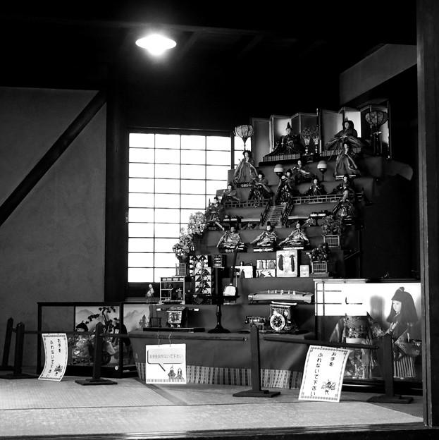 写真: 古民家のひな壇