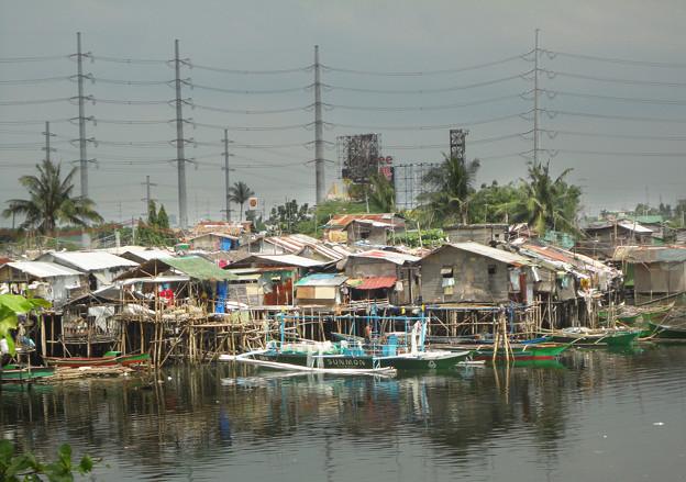 46フィリピン-2ミンダナの水上の町