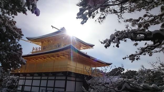 90日本-2雪の金閣寺