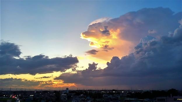 ワニガメに似た雲