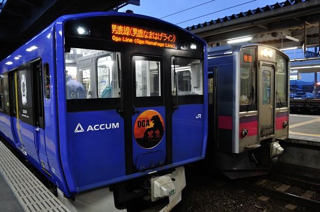 男鹿線EV-E801系乗車の旅 36