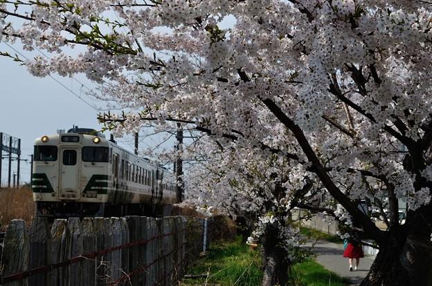 男鹿線キハ40系 1132D 18-04-22 13-09