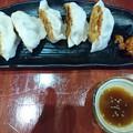 写真: 焼き餃子と麻婆豆腐