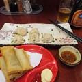Photos: 焼き小籠包 春巻き 青島ビール