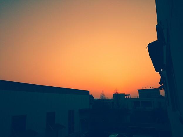 こんくり夕陽