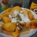 桃の冷製パスタ