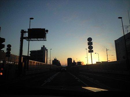 首都高速の夕焼け