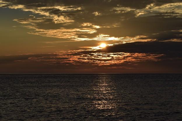須沢海岸からの夕焼け
