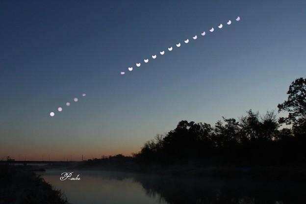 1月6日の部分日食