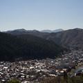 山と街並み
