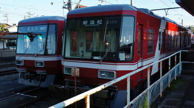 遠州鉄道 1000形 1007編成と2000形 2106