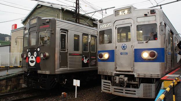 熊本電鉄 6000形 6221fe編成と6111A編成