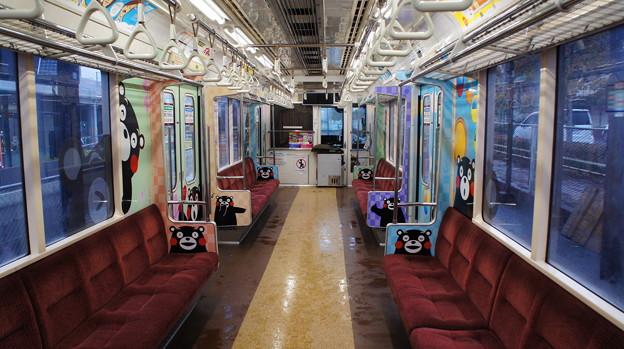 熊本電鉄 01形 01-135編成 車内