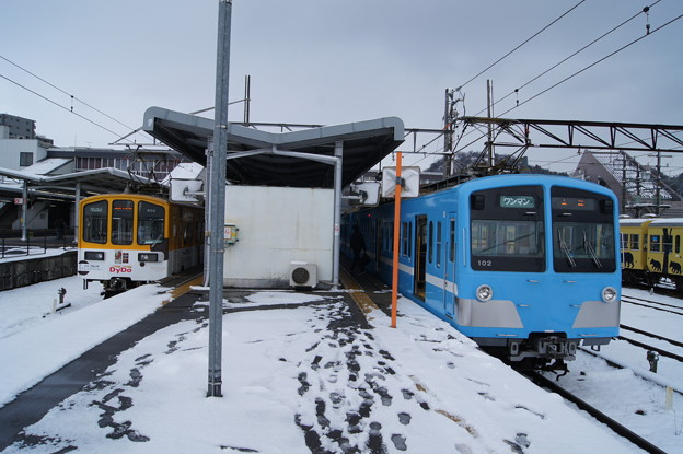 近江鉄道 800形 802Fと100形 102F
