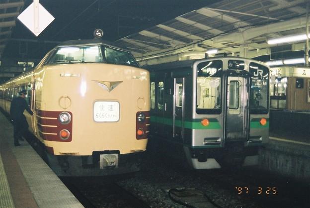 485系とE127系