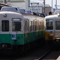 Photos: 琴電 1200形 1251Fと1080形 1091F