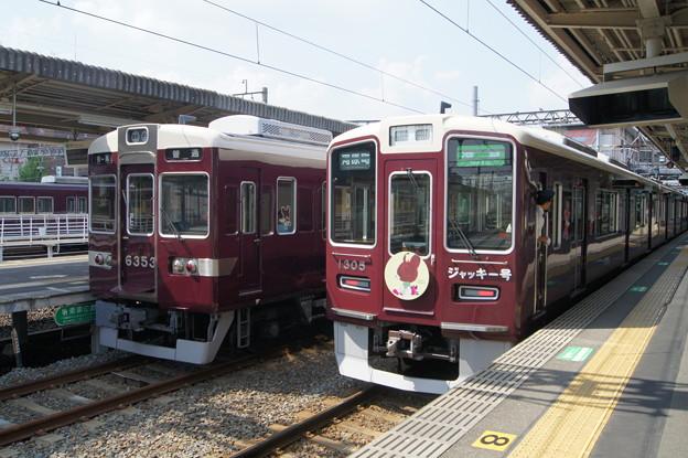 阪急6300系 6353Fと1300系 1305F