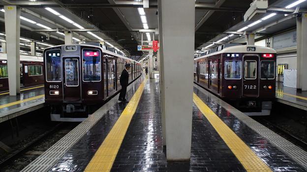 阪急8000系 8020Fと7000系 7022F
